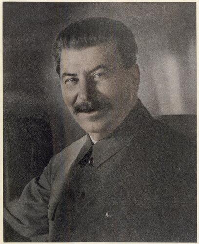 Редкое изображение Сталина