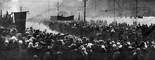 Траурная процессия на Красной площади