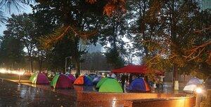 Новая волна протестов – ПСРМ и «Наша п.» установили палатки