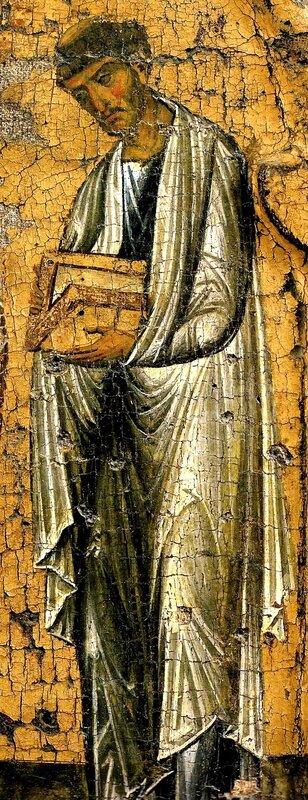 Святой Апостол и Евангелист Лука. Икона. Византия, XII век. Монастырь Ватопед на Святой Горе Афон.