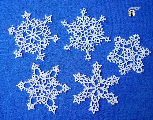 НЕбисерная лавка чудес: Кружевные снежинки в технике фриволите