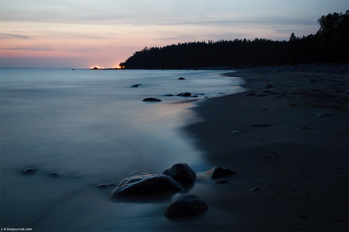 фото, Приморск, побережье, берег, закат, звезды