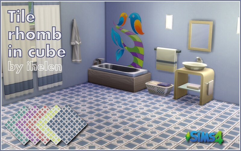 Tile Rhomb in cube by ihelen