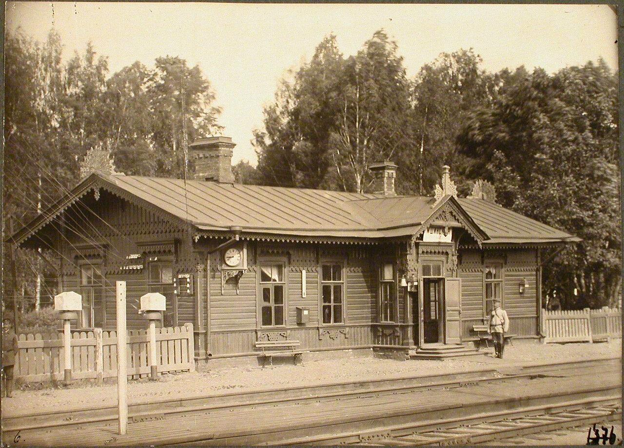 Петербургская губерния. . Станция Мшинская. 99 верста. Вид пассажирского здания на станции