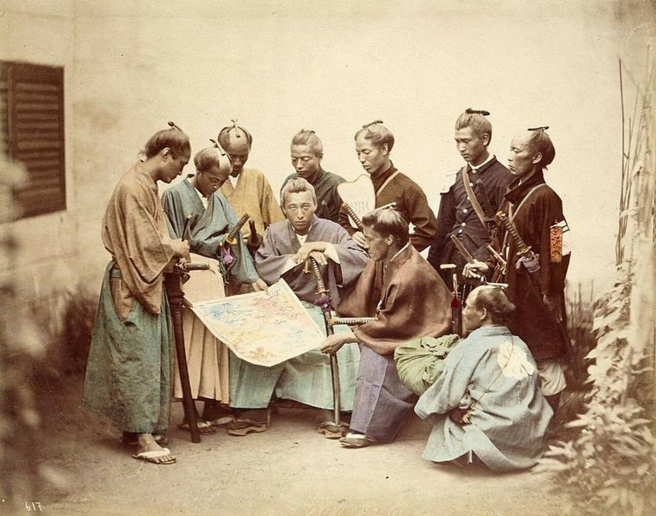 Собрание самураев перед боем