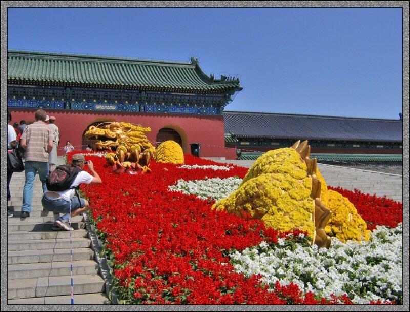 цветник, дракон, Парк Неба, Пекин