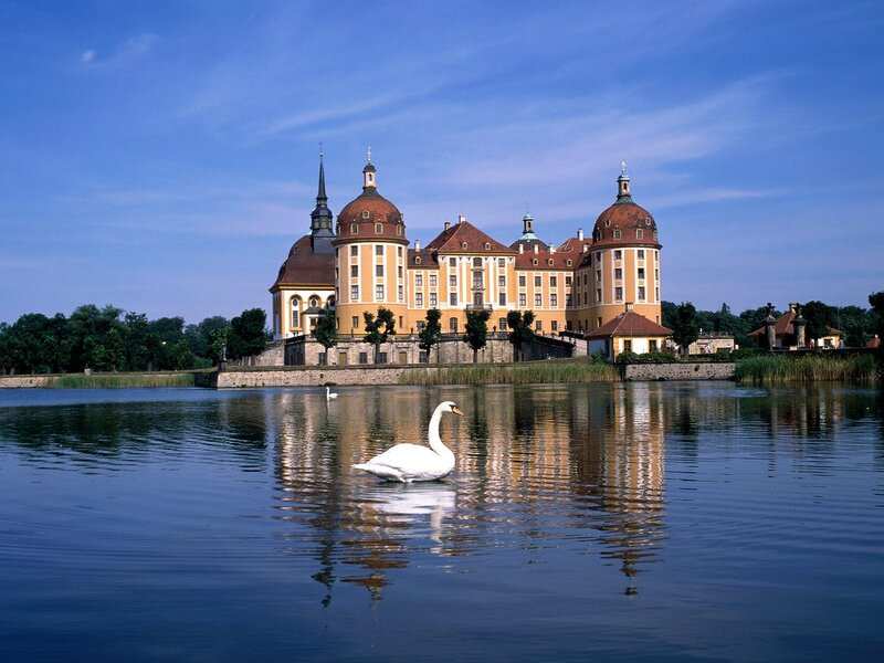 Moritzburg Castle near Dresden, Saxony, Germany