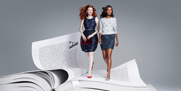 Карен Элсон (Karen Elson) и Лия Кебеде (Liya Kebede) в рекламной фотосессии для Lindex