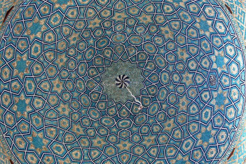 Голубой орнамент купола
