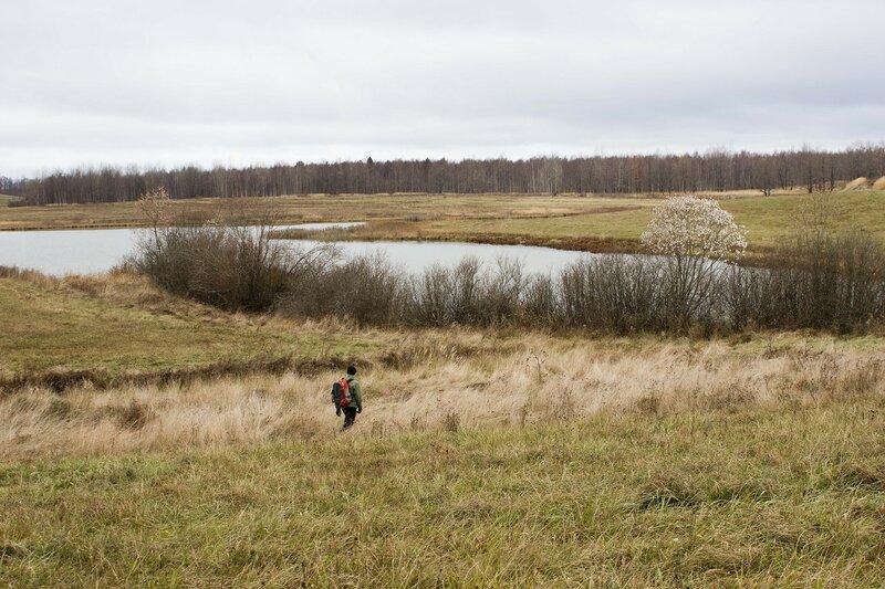 безымянное озеро у деревни Сергие
