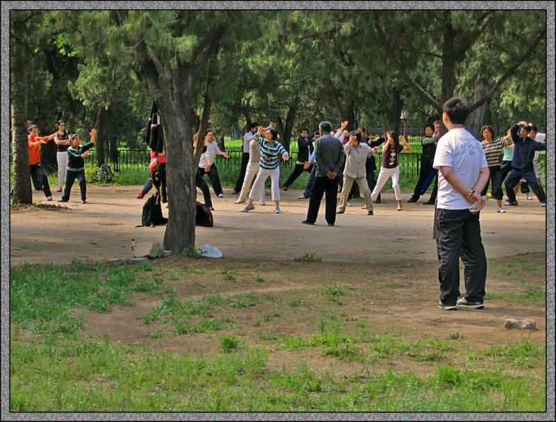 Выходной день в парке Тяньтань, Пекин