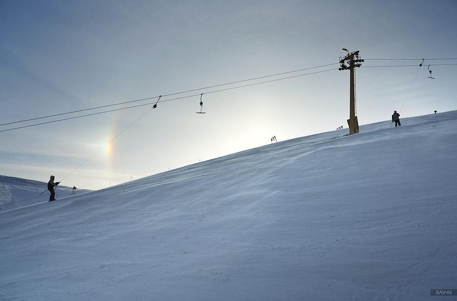 Про снежную радугу и курорт Драгобрат