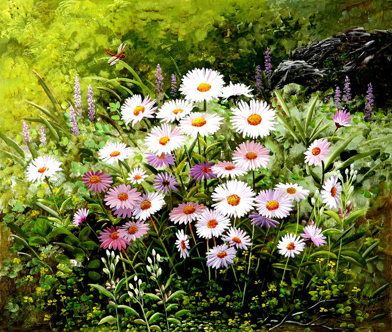 Художник Lee Yong Su. Лишь надо видеть красоту земли, она подарит радость неизменно