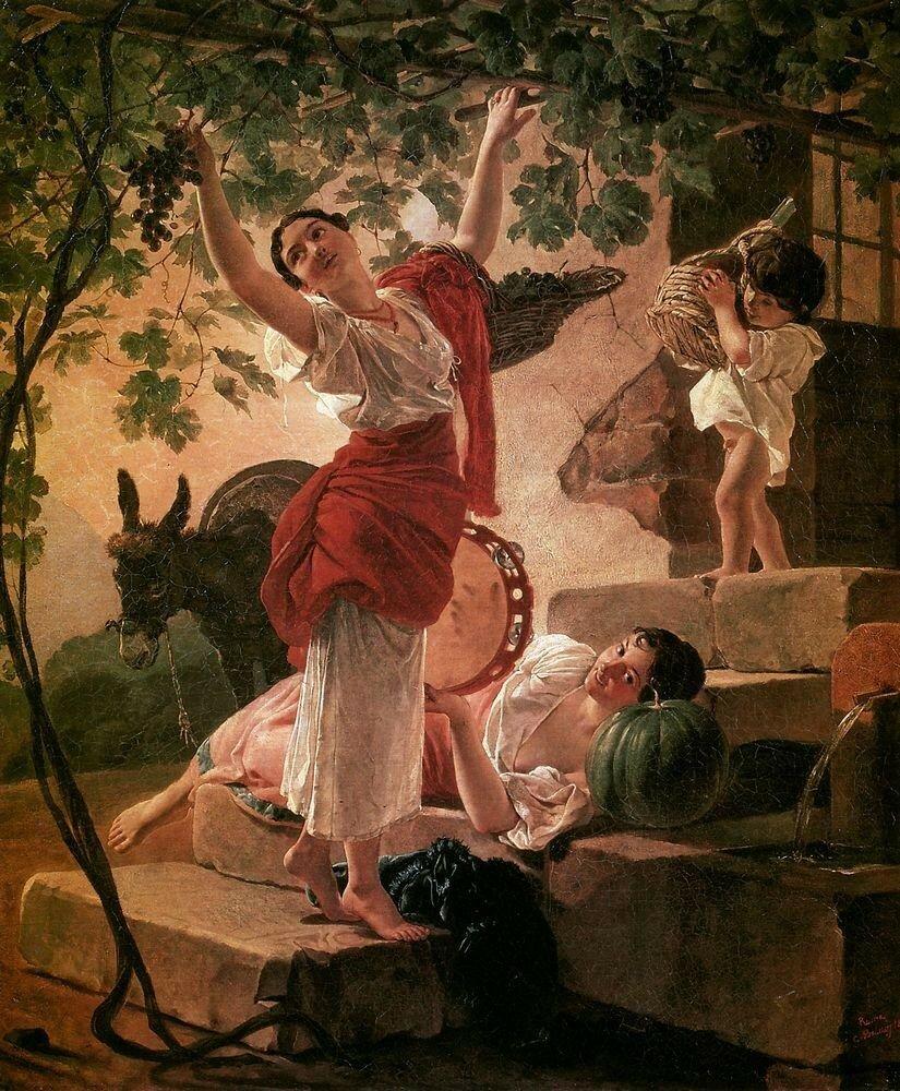 Девушка, собирающая виноград в окрестностях Неаполя. 1827.jpg