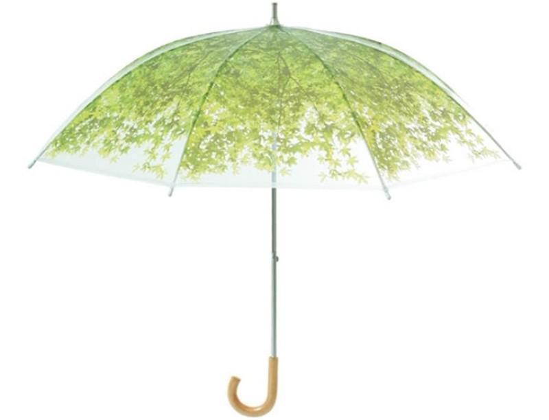 12. Зонт «Листва» Зонт, который позволит укрыться от дождя под зеленой листвой.