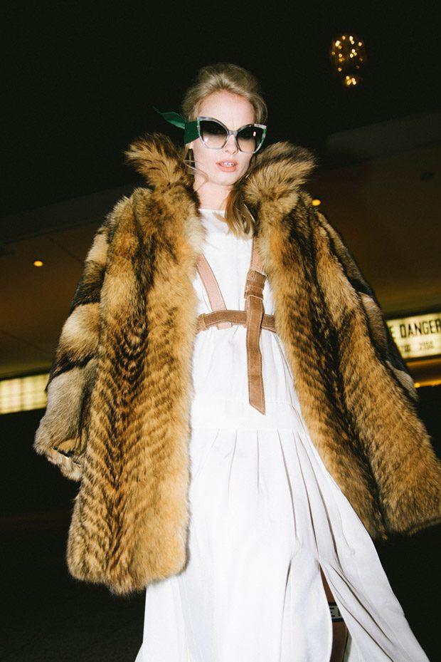 Glasses: Hausach Harness: la fille d'O Dress: Nobi Talai Fur: Vintage LegHarness: Ruben Galarreta So