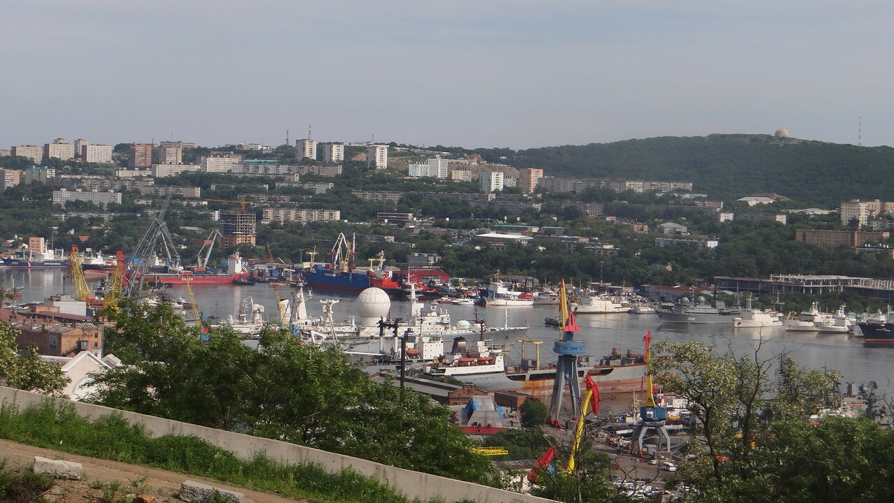 Vladivostok, Golden Horn Bay panorama.