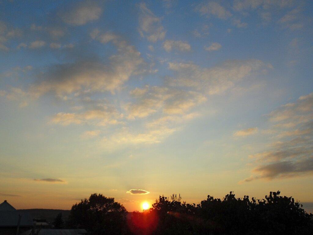 Октябрьские закаты в Острове