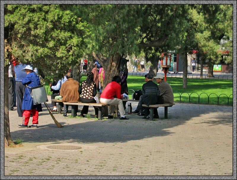 Выходной день в парке Тяньтань