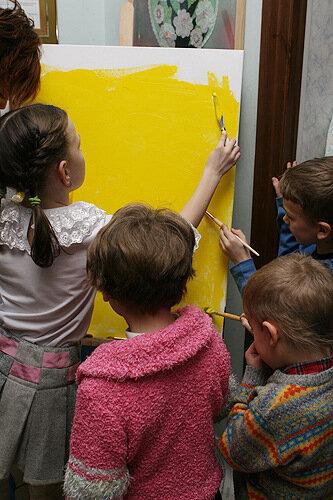 картина живопись дети