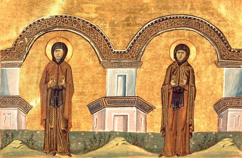 Святые Преподобные Марина и Кира.