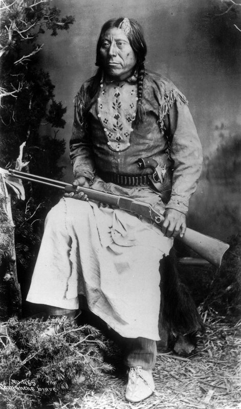 Comanche man, between 1890 and 1910
