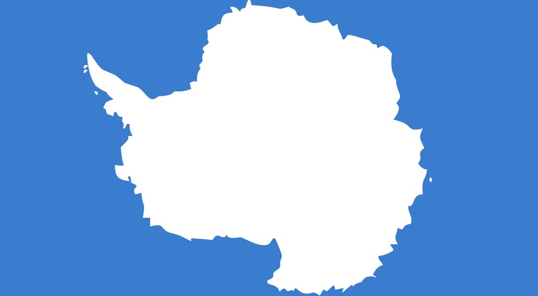8. Антарктика Хотя в Антарктиде и нет государственности, флаг у нее все-таки есть, и он ясно дает по