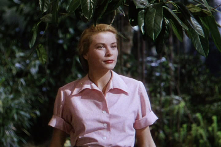 Screendhot of Grace Kelly from the trailer of film Mogambo