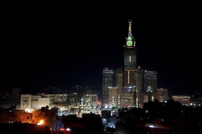 Башни Абрадж аль-Бейт. Саудовская Аравия