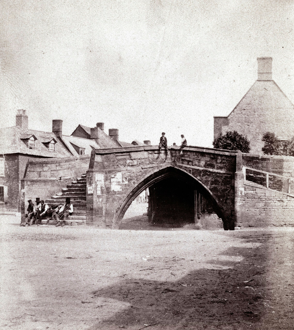 Кроулэнд, трехсторонний мост. Великобритания.1864