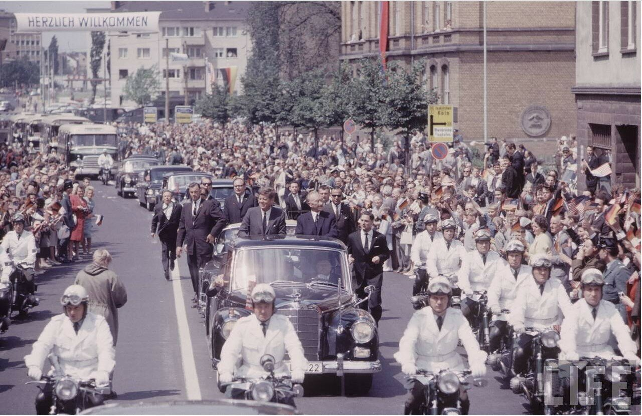 26 июня 1963. Президент прибыл в Берлин