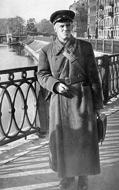 Poet Nikolai Tikhonov in blockaded Leningrad.