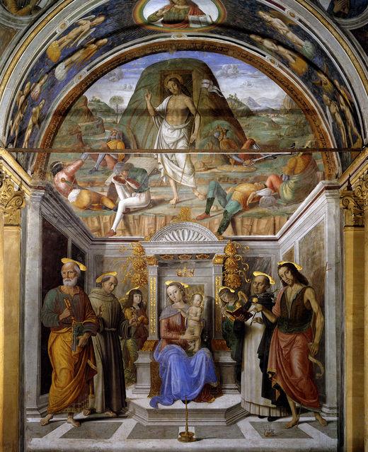 G_santi_Sacra_conversación_con_resurrección_Fresco_San_Domenico_capilla_Tiranni,_Cagli.jpg
