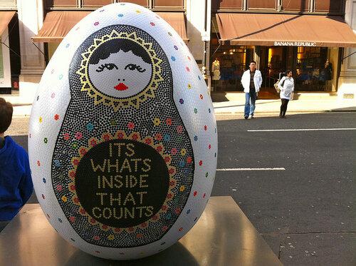 Городской квест - охота на пасхальные яйца