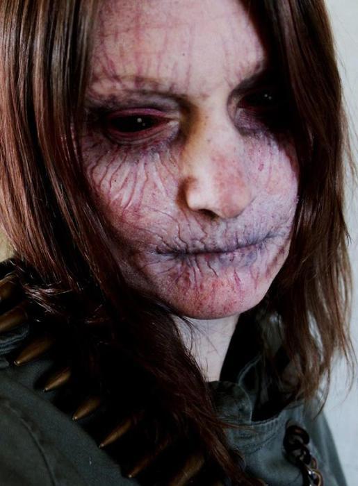 Самый жуткий макияж на Хэллоуин   Фотографии
