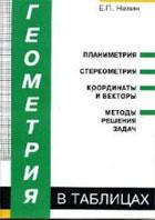 Книга Геометрия в таблицах. Нелин Е.П. Учебное пособие для учащихся старших классов