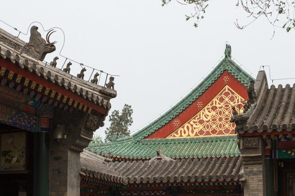 Крыши, дворец князя Гуна, Гунванфу, Пекин