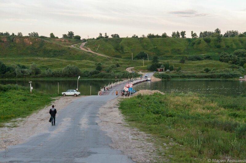 Старорязанский понтонный мост