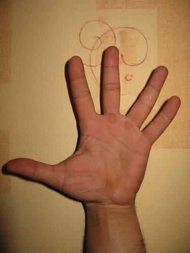 рука мужа