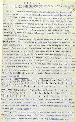 Отчет Николаевской окружной комиссии равноправия языка  о состоянии украинизации учреждений в Николаевском округе за период с марта в 1924 г. по 1 июля в 1925 г._1