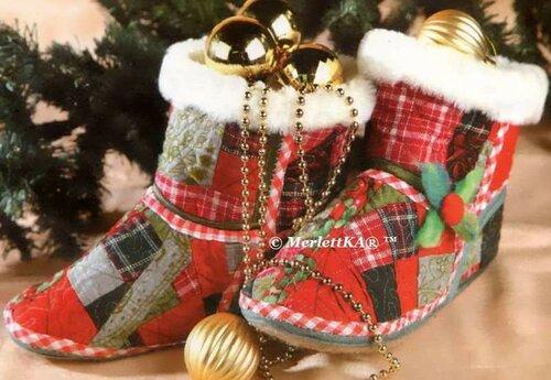 Башмачки новогодние своими руками
