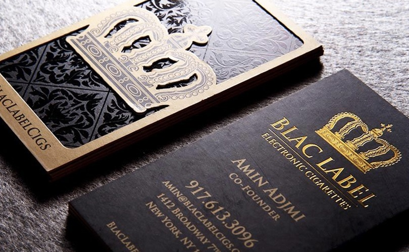 Примеры красивых «шелковых» визитных карточек