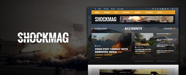 Shockmag - Ad Optimized Magazine WordPress Theme with Powerful Advertisement System - 1