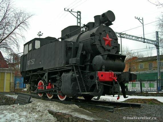 Пермь. Паровоз в сквере около ж/д вокзала