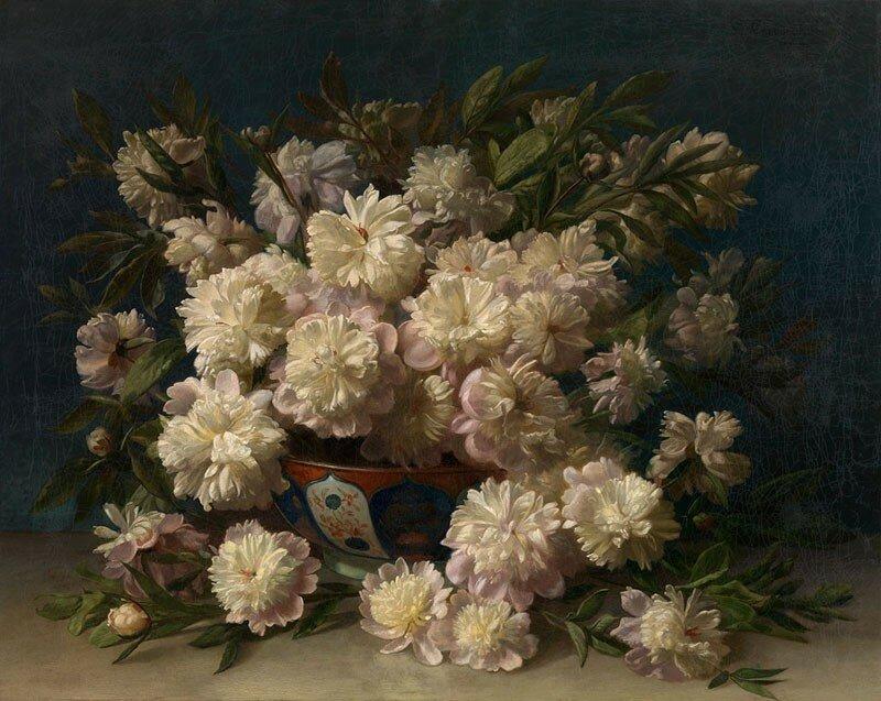 Louis Verboeckhoven -  A Bouquet of Peonies  - 90040-121.jpg
