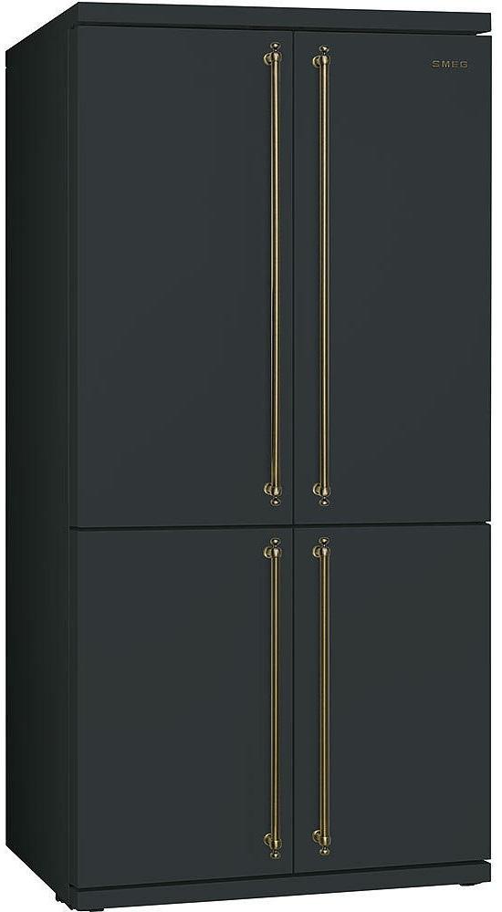 черный большой холодильник Smeg
