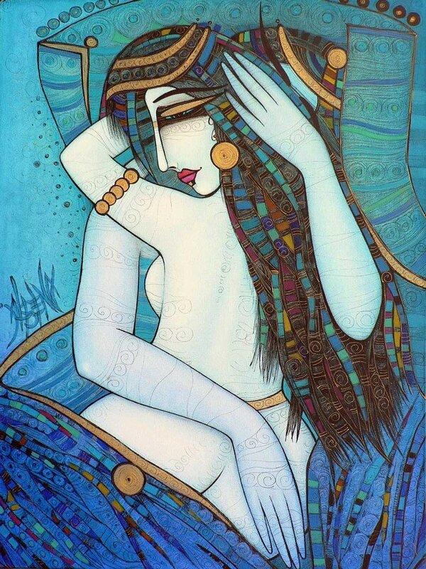 Художник Albena Vatcheva. Ты   мой   нежный   и   стройный   цветок так   волнующе страстный,  зовущий