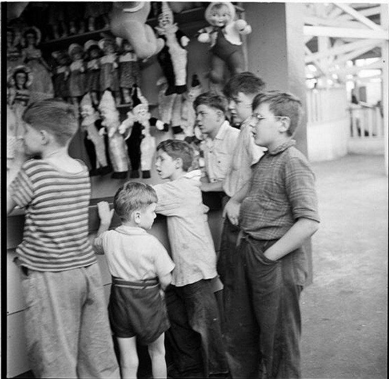 1946. Парк развлечений Палисейдс. Развлечения для детей
