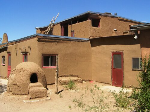 Пуэбло Таос в штате Нью-Мексико, США