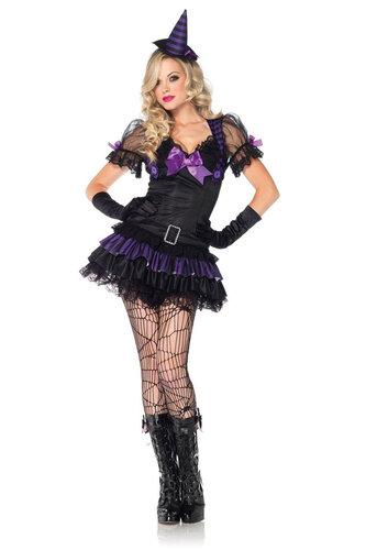 Женский карнавальный костюм Ведьмочка
